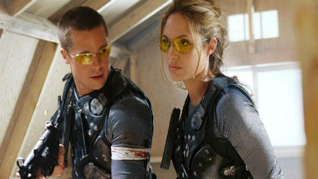 Angelina Jolie e Brad Pitt in Mr & Mrs Smith