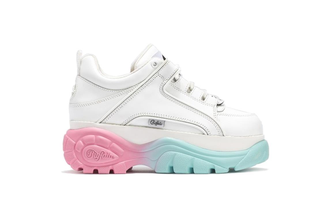 Sneakers con maxi platform in gomma con sfumatura di colori pastello