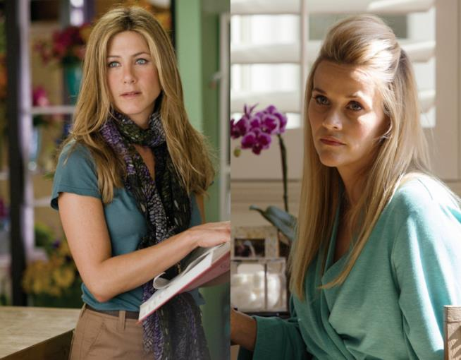Jennifer Aniston nel film Love Happens e Reese Witherspoon in Big Little Lies