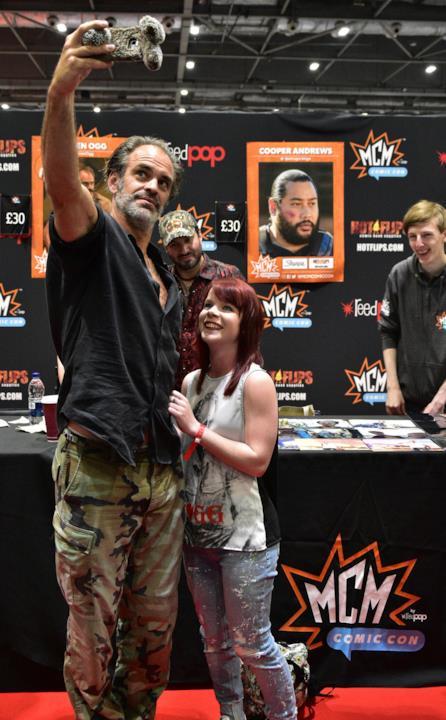 Steven Ogg di The Walking Dead a MCM London Comic Con