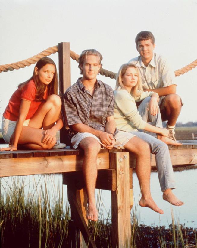 I quattro protagonisti di Dawson's Creek.