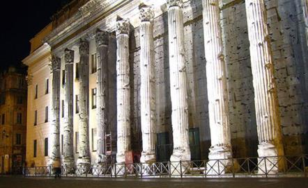Il Tempio di Adriano a Piazza di Pietra
