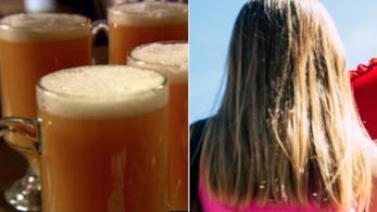 Collage tra la bevanda burrobirra e i capelli color burrobirra