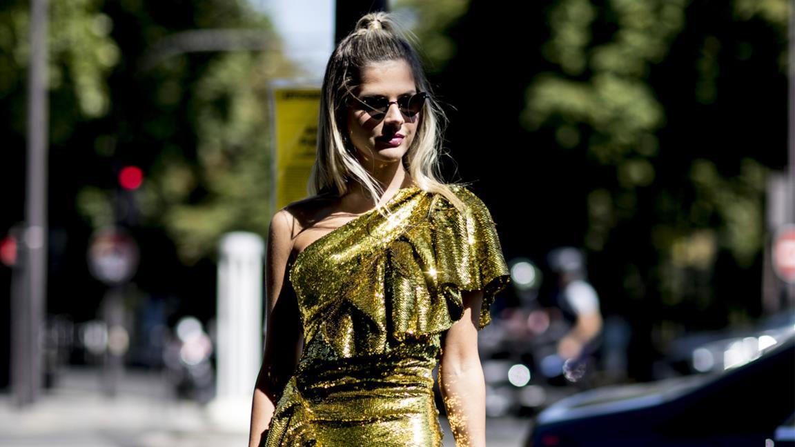 Particolare abito Street Style Parigi SS2020