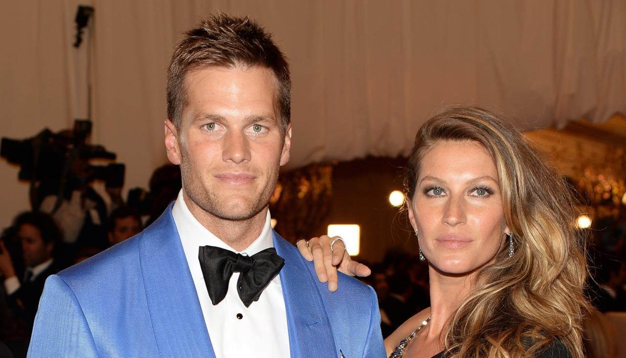 Tom Brady e Gisele durante un evento mondano