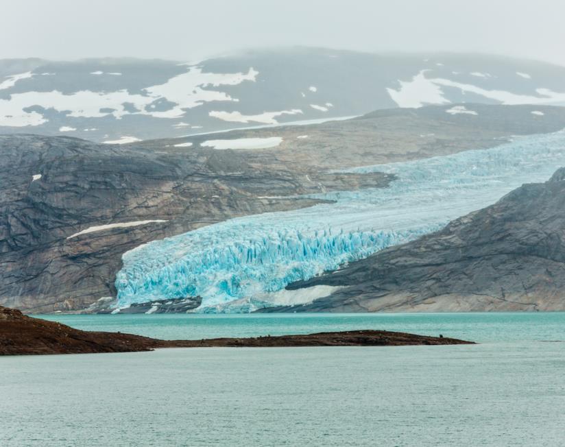 Il ghiacciaio di Svartisen, vicino alla città norvegese di Bodo