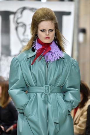 Verde per la giacca di Miu Miu