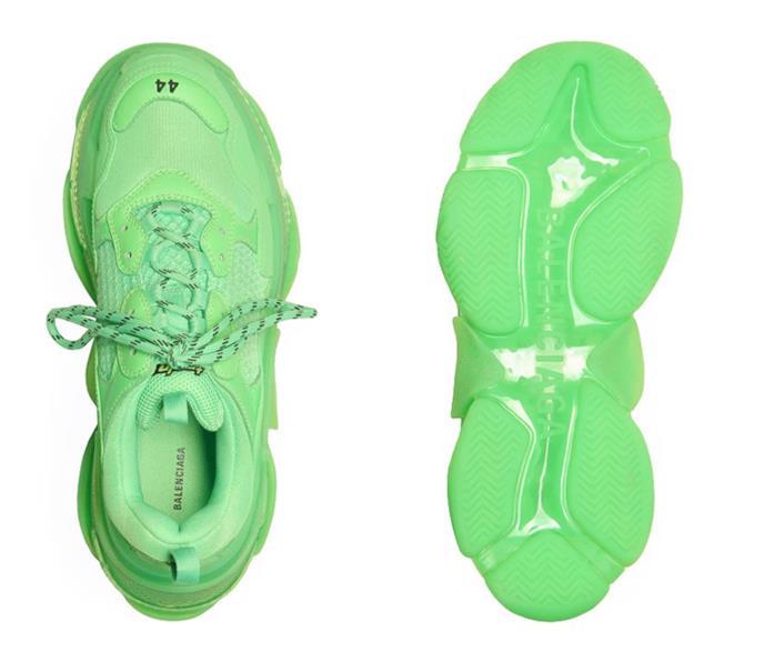Sneakers Balenciaga triple S neon verde