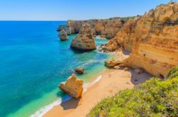 Spiaggia di Marinha Beach in Algarve