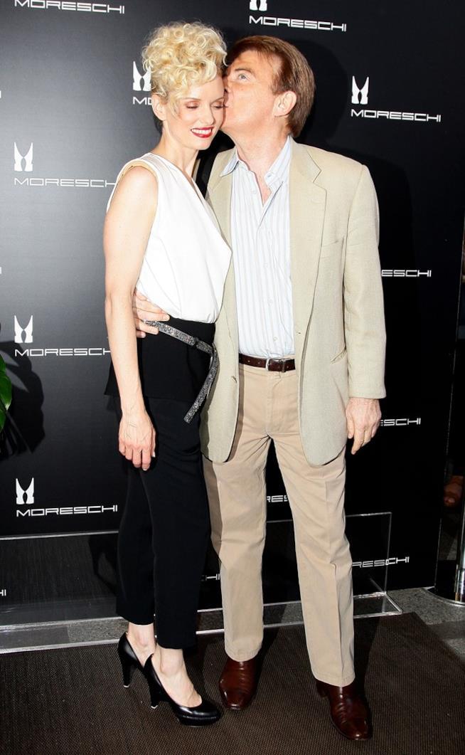 Paolo Limiti e Justine Mattera quando erano sposati a un evento