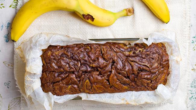 Banana Bread con impasto alla Nutella