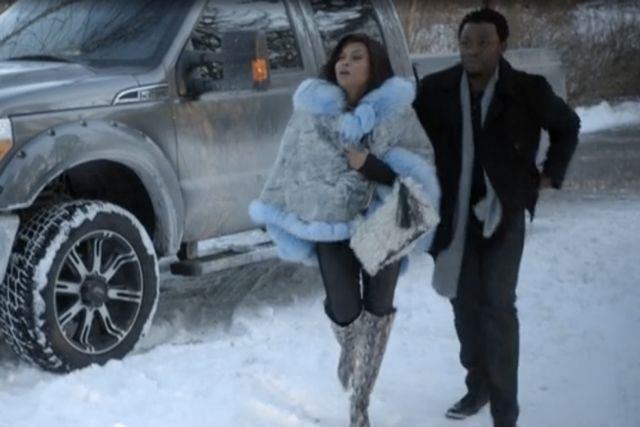 Cookie Lyon in mezzo alla neve