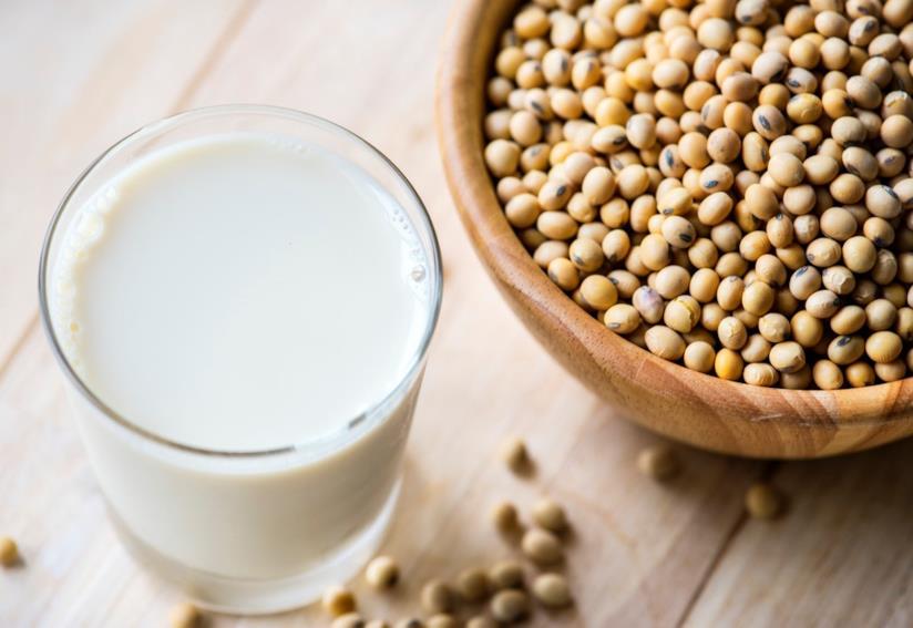 Bicchiere di latte di riso
