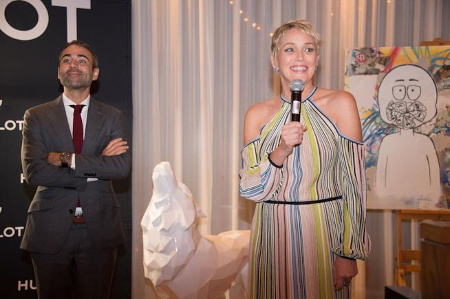 Sharon Stone ospite d'onore di un evento a Beverly Hills