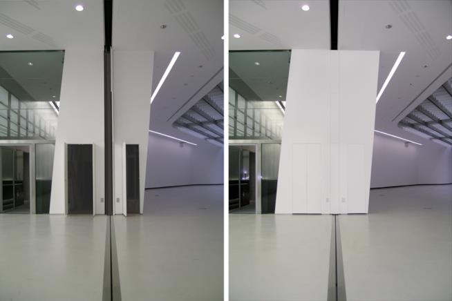 Sistema RasoParete installato all'interno del MAXXI di Zaha Hadid a Roma