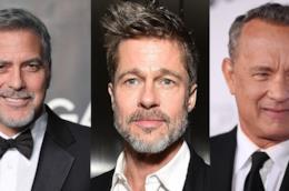 Gli attori George Clooney, Brad Pitt, Tom Hanks