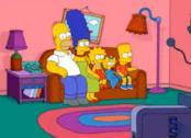 Homer, Marge, Lisa, Maggie e Bart Simpson