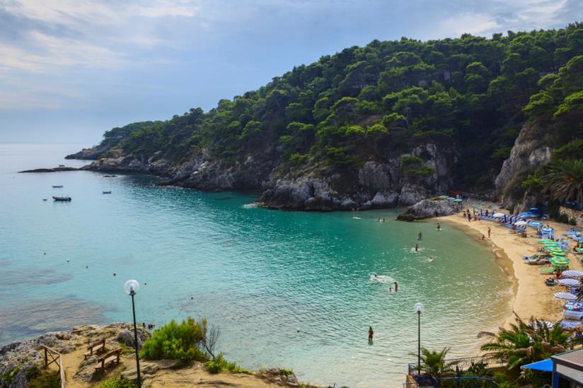 Isole Tremiti: spiaggia di Cala Arena a San Domino