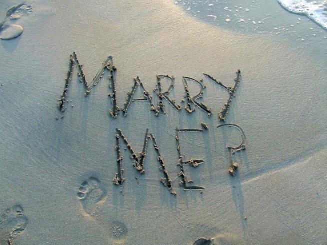 Proposta matrimonio in stile romantico