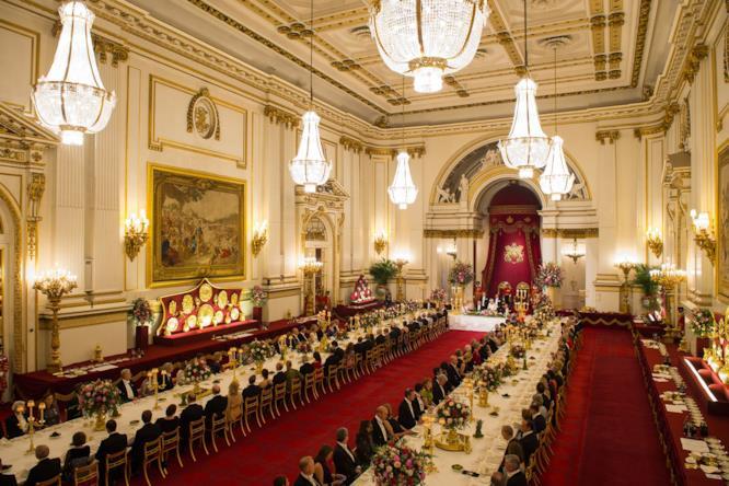 Buckingham Palace, la cena dopo la cerimonia