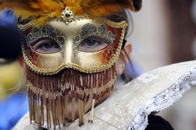 Carnevale veneziano: maschera particolare