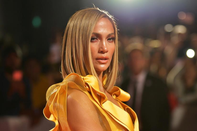 Un primo piano di Jennifer Lopez a Toronto