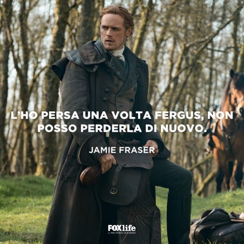 Jamie Fraser su una collina