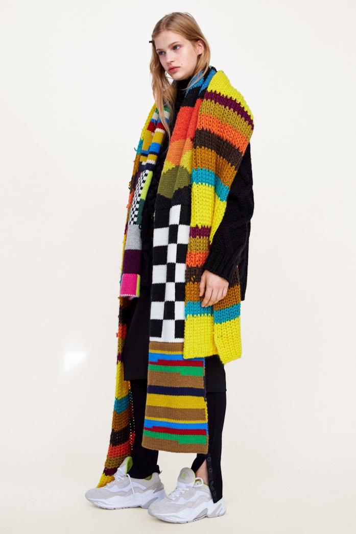 Maxi sciarpa multicolor di Zara 100% acrilico