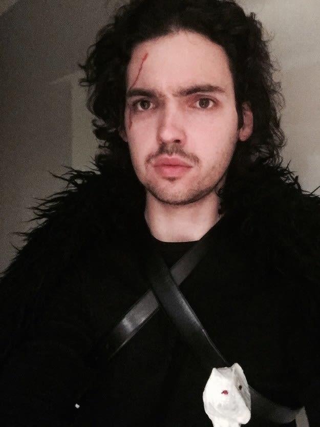 Il costume di Jon Snow per Halloween