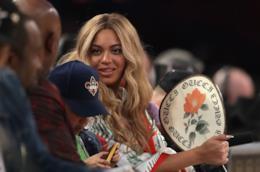 Beyoncé durante una partita di basket