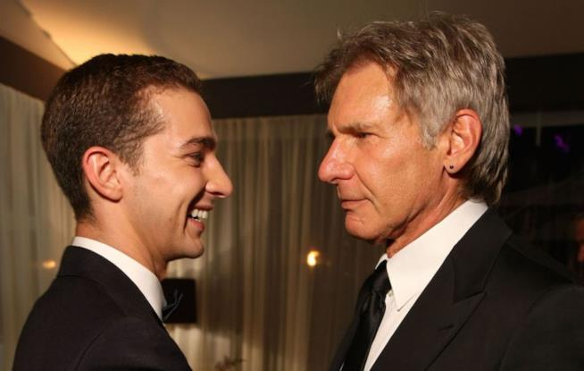 Harrison Ford con l'attore Shia LaBeouf