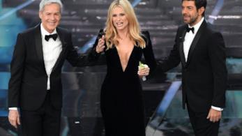 Il trio di conduttori di Sanremo 2018