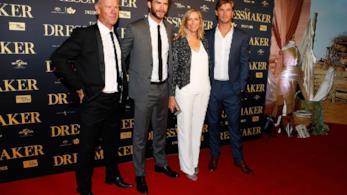 Liam e Chris Hemsworth con i loro genitori