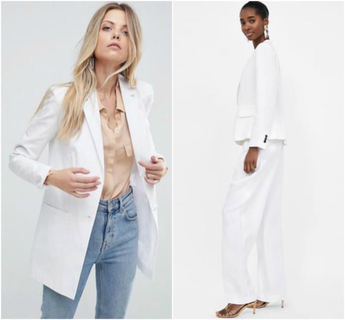 Blazer bianchi con jeans e pantaloni