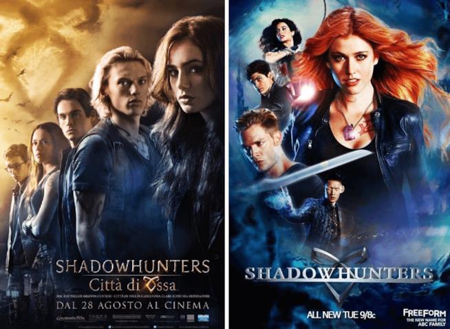 Poster di Shadowhunters in versione film e telefilm