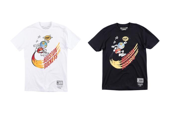 T-shirt Mitchell & Ness x Bleacher Report NBA Remix and Travis Scott