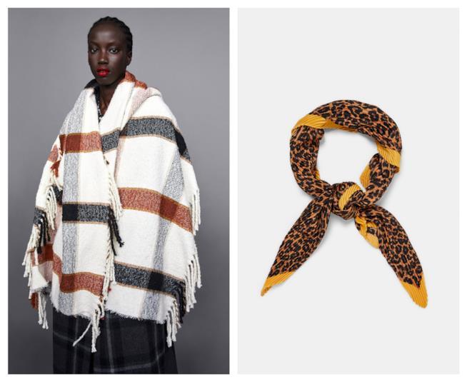 Foulard e sciarpe a fantasia di tendenza per l'autunno 2018