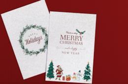 Due cartoline d'auguri di Natale
