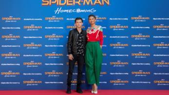 Zendaya e Tom Holland durante la promozione di Spider-Man: Homecoming