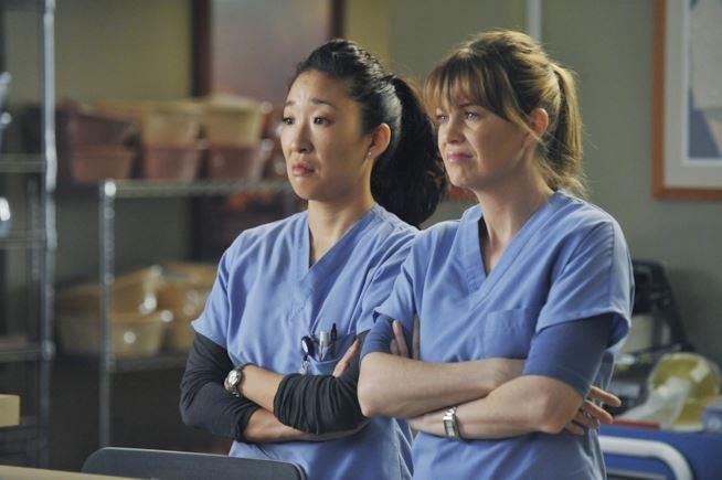 Meredith e Cristina in Grey's Anatomy