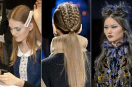 Tre hairstyle di modelle