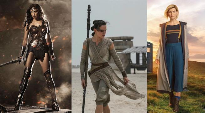 Gal gadot, daisy Ridley e Jodie Whittaker nei panni di Wonder Woman, Rey ed il 13mo Dottore