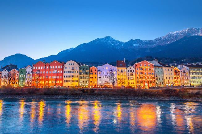 La città di Innsbruck in Austria a Natale