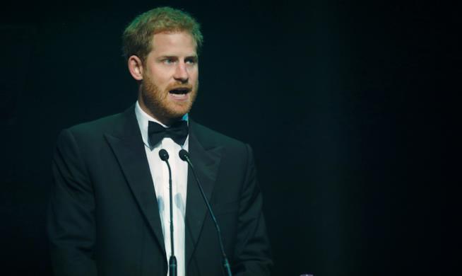 Il Principe Harry agli Attitude Awards
