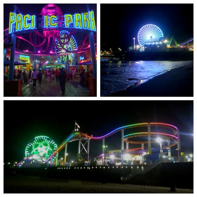 Santa Monica Pier by night