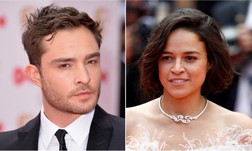 Collage tra Ed Westwick e Michelle Rodriguez
