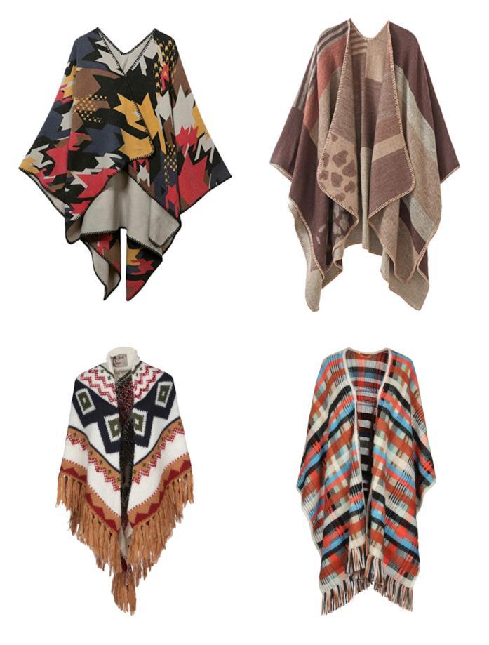 Mantelle colorate e di moda in stile folk