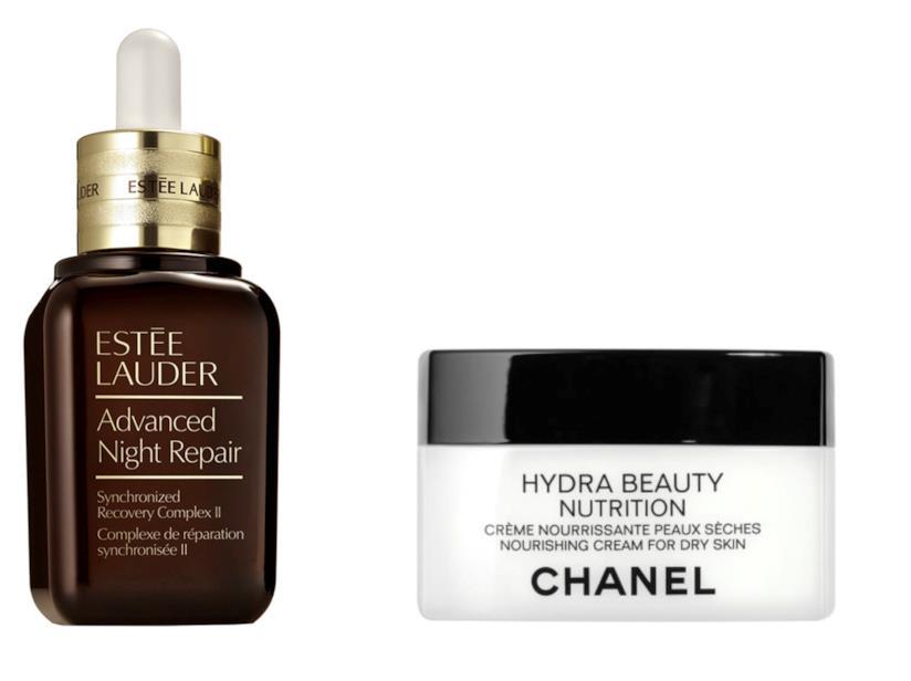 Advanced Night Repair di Estée Lauder e Hydra Beauty Nutrition di Chanel
