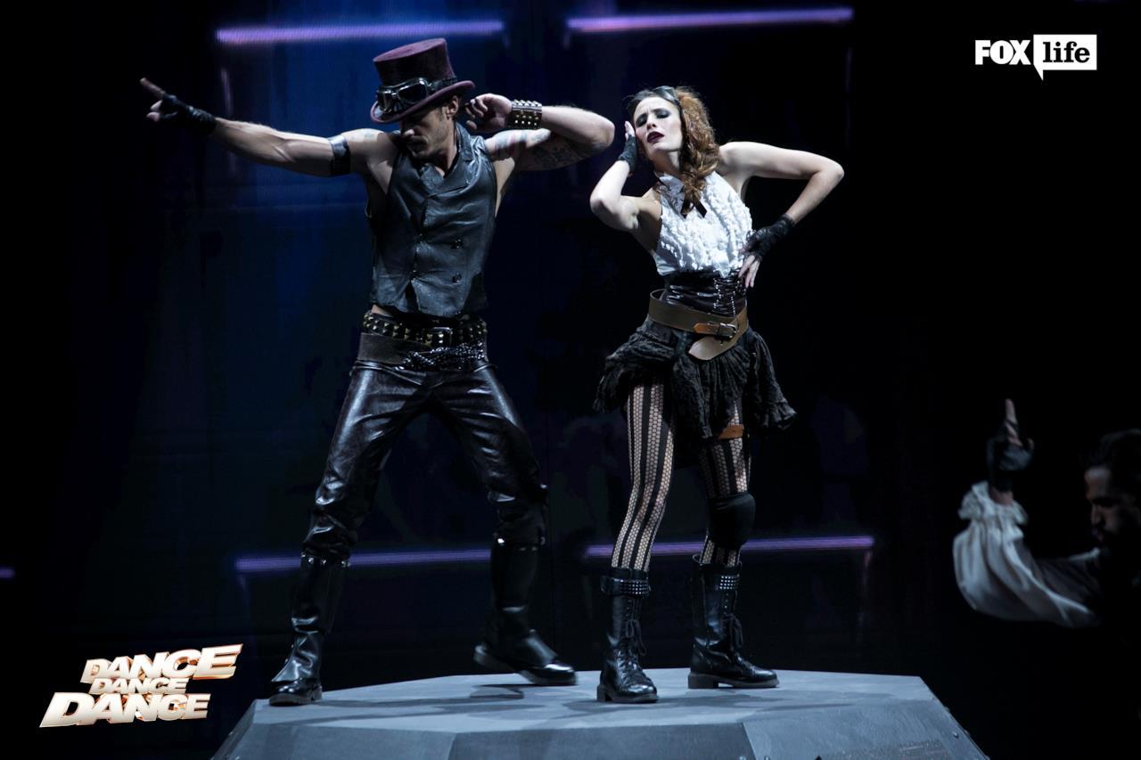 Raniero e Beatrice sul palco di Dance Dance Dance