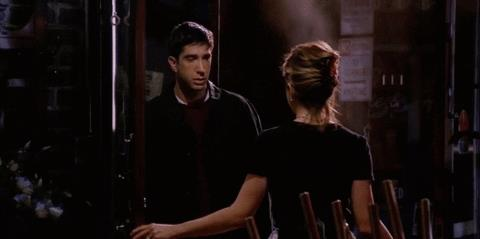 David Schwimmer e Jennifer Aniston in Friends